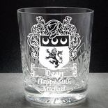 Coat of Arms / Family Crest Whisky Glass, ref CWFC